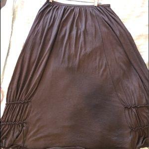 Max studio S brown maxi skirt